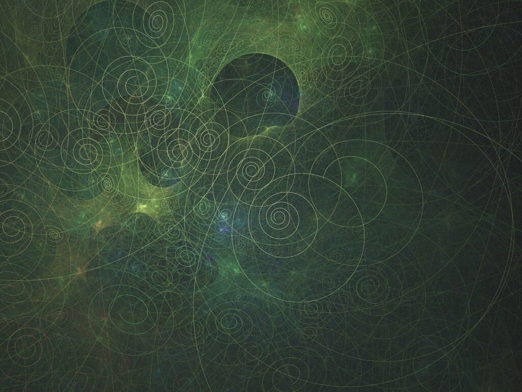spirals in a fractal pattern